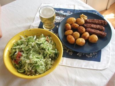 Mititei campenesti cu carne pregatita in casa