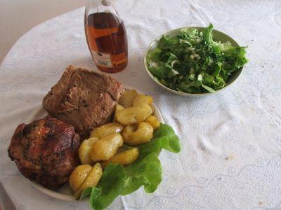 friptura de vita si porc cu cartofi
