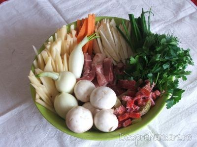 Fleica de porc cu legume, la woc