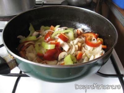 Calire legume pentru gusa de curcan umpluta cu 3 feluri de carne.