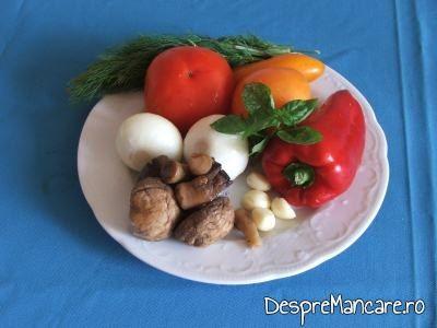 Alte ingrediente pentru fleica de porc cu sorici la gratar, cu paste fainoase.