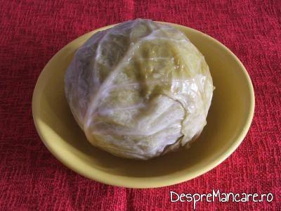 Varza murata pentru garnitura de varza murata calita la fleica de porc cu sorici, fiarta in zema de varza.