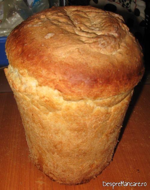 Paine de casa, facuta in cuptorul minune, pentru ceafa de porc la tigaie cu cus-cus si mazare.