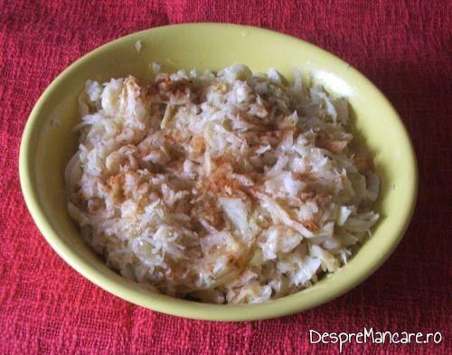 Salata de varza murata pentru masa festiva de 1 Decembrie.