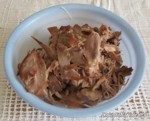 Carne fasii pentru legume umplute cu carne si ghebe.