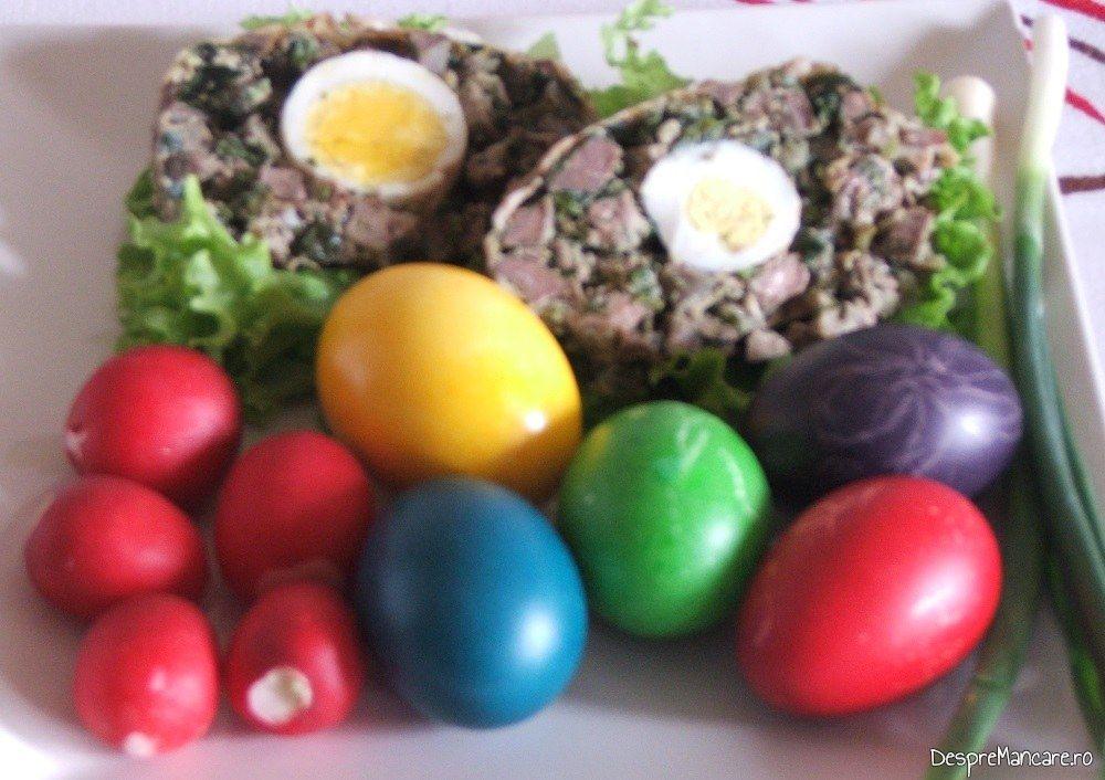 Drob de miel, oua rosii, ridichi de luna pentru Paste 2015.