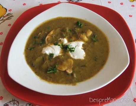 Supa crema de legume si ciuperci.