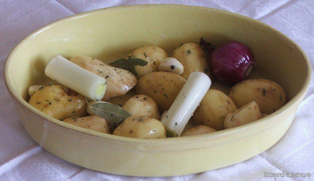 Legume folosite pentru cotlet de ied cu cartofi, la cuptor.