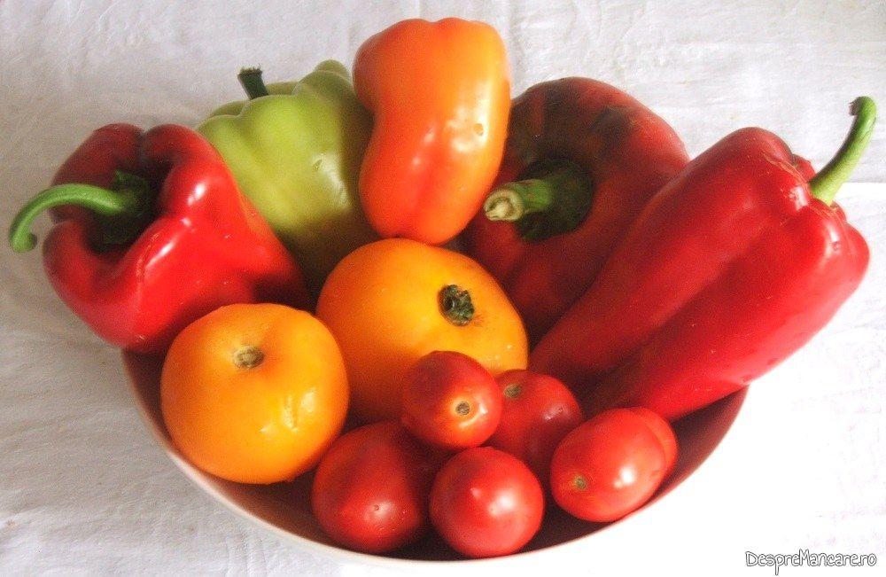 Legume pentru amestec de rosii si ardei gras, capia, gogosari.