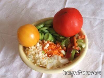 Legume folosite pentru ciorba de legume, de vara.