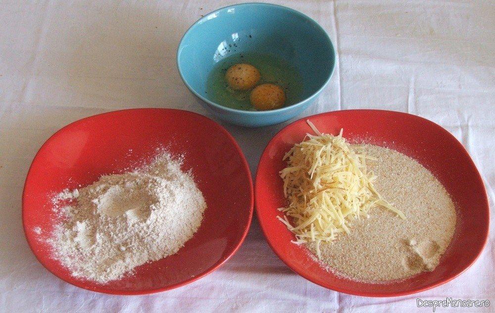 Ingrediente pregatite pentru a face pane-uri din maduvioare.