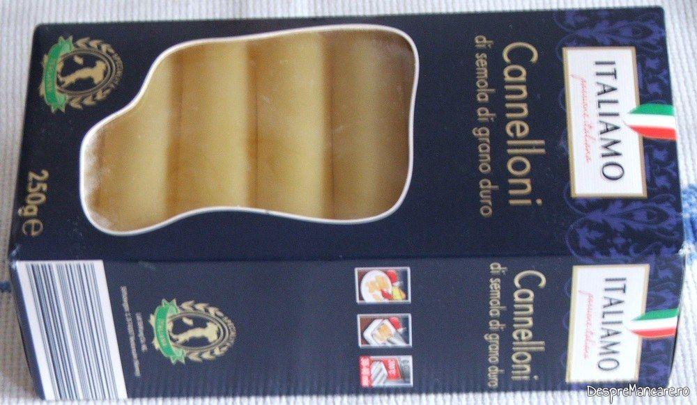 Pastele fainoase utilizate la canelloni umpluti cu ciuperci, in sos de rosii.
