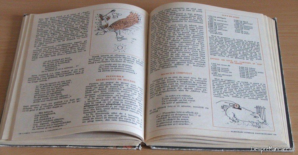 Articole si retete din Albumul literar gastronomic.