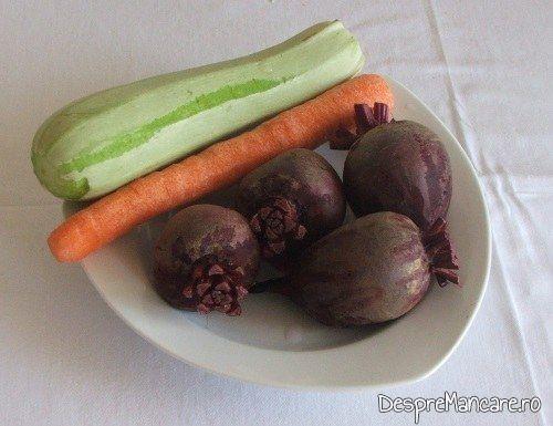 Ingrediente de trebuinta pentru platica cu legume, la cuptor, altfel.