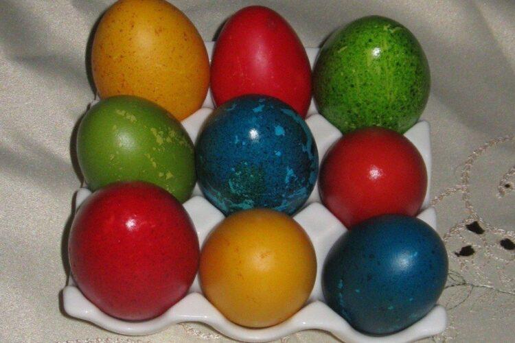 Oua vopsite pentru sarbatoarea pascala.