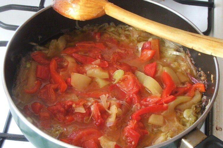 Calire legume pentru plachie de caras cu citrice.