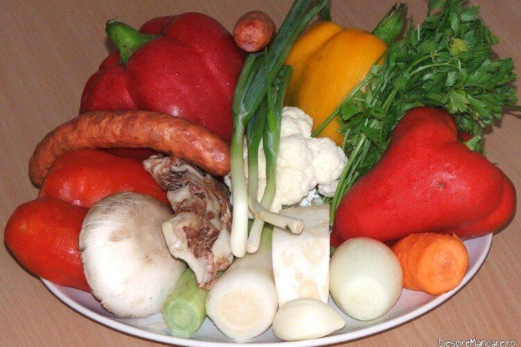 Ardei umpluti cu legume si ce mai ai prin frigider.
