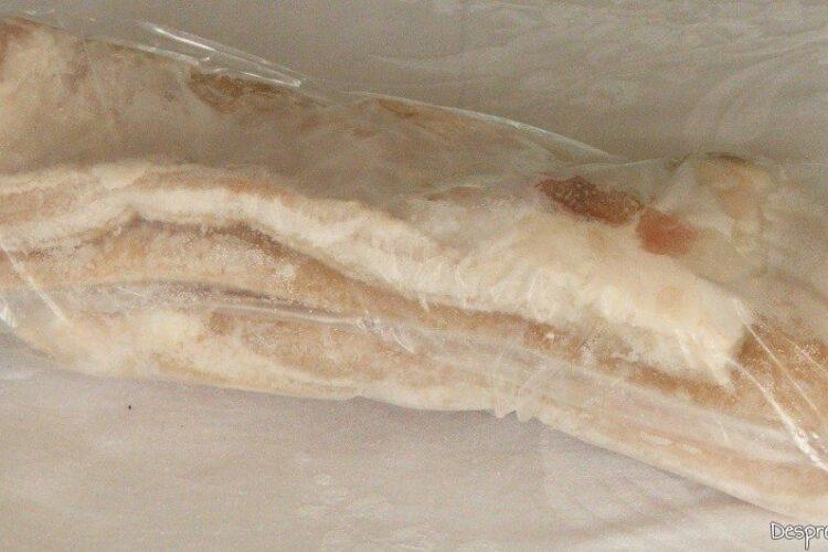 Pastrare la congelator pecie de porc cu sorici parlit preparata rapid ca aperitiv.