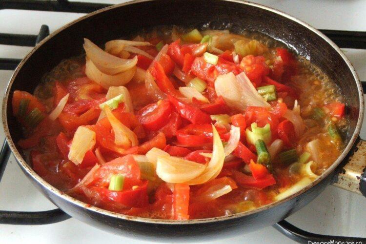 Calire amestec de legume pentru mancare de conopida.