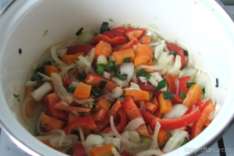 Calire legume proaspete in untura de pasare.