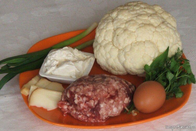 Ingrediente de folosinta pentru conopida impanata cu carne tocata si apoi gratinata.