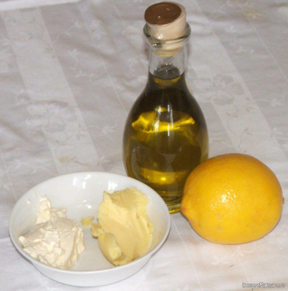 Ingrediente de trebuinta pentru tocanita de hribi cu praz.